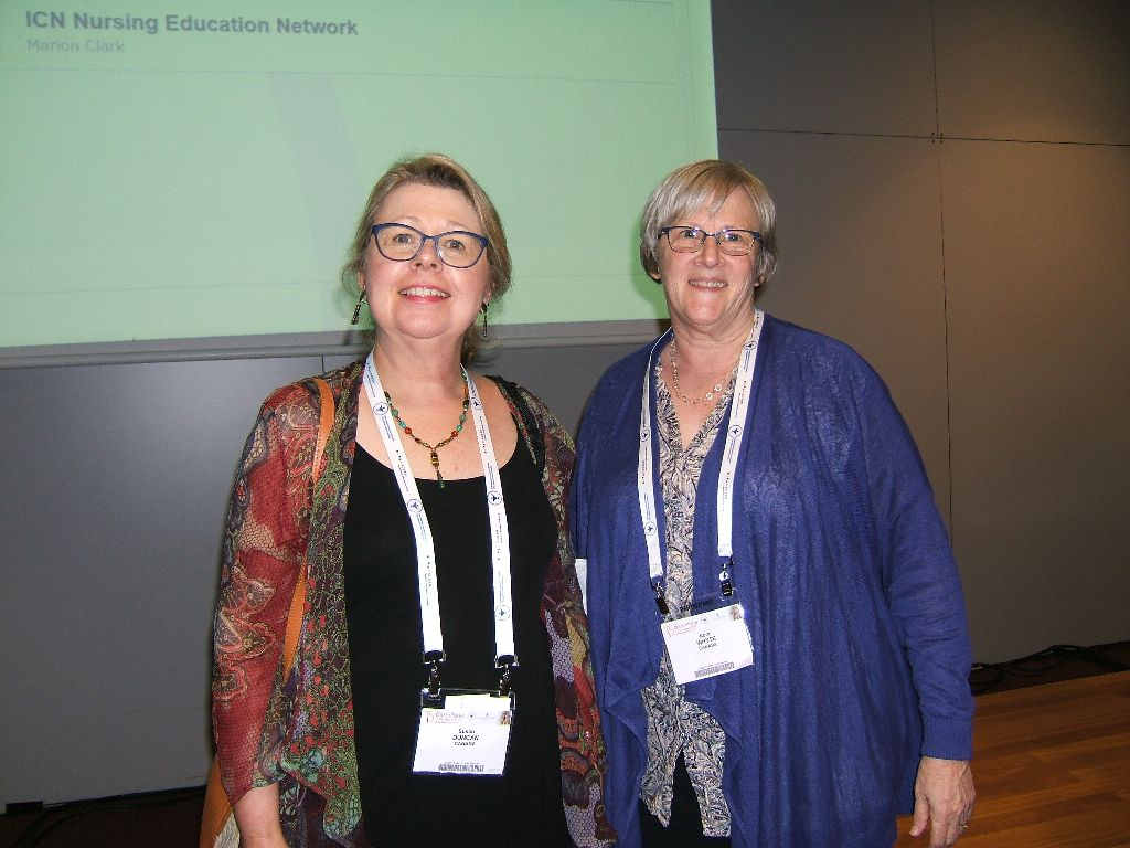 Susan Duncan and Nora Whyte